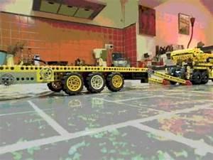 Lego Technic Camion : lego technic camion et remorque avec grue youtube ~ Nature-et-papiers.com Idées de Décoration
