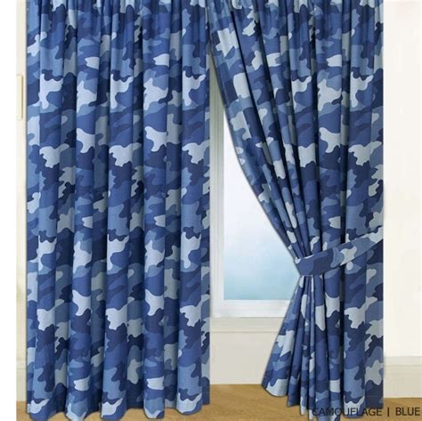 army camouflage camo curtains set 2 tiebacks