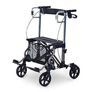 amazon com homcom four wheel folding rollator walker