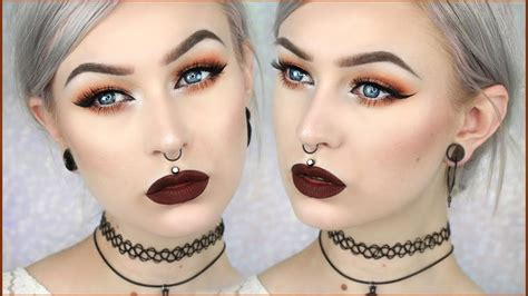 grunge glam autumn leaves makeup evelina forsell youtube
