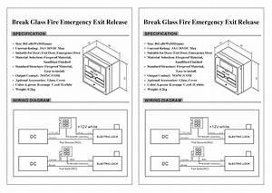 Red Break Glass Emergency Call Point   Emergency Door