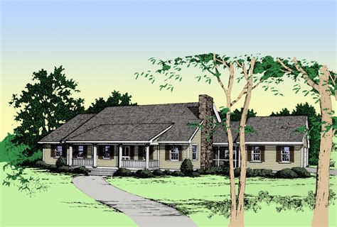 rustic ranch house plan  architectural designs house plans