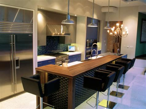kitchen bar counter designs walnut wood countertop in chicago illinois by grothouse 5091