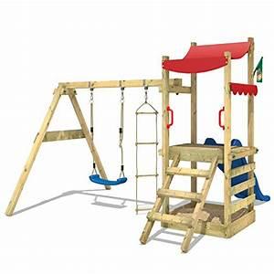 Sandkasten Kunststoff Xxl : wickey spielturm funflyer spielhaus kletterturm mit schaukel sandkasten kletterleiter blaue ~ Orissabook.com Haus und Dekorationen