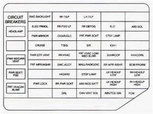 Chevrolet Venture  1998  - Fuse Box Diagram