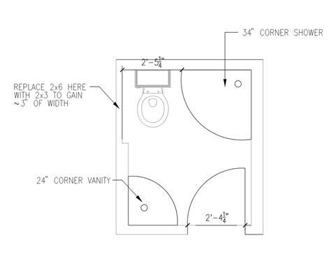 Small Bathroom Blueprint by 5 X 6 Bathroom Layout Ideas For The House In 2019