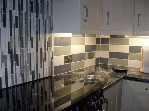 linear cream gloss wall tile kitchen tiles  tile