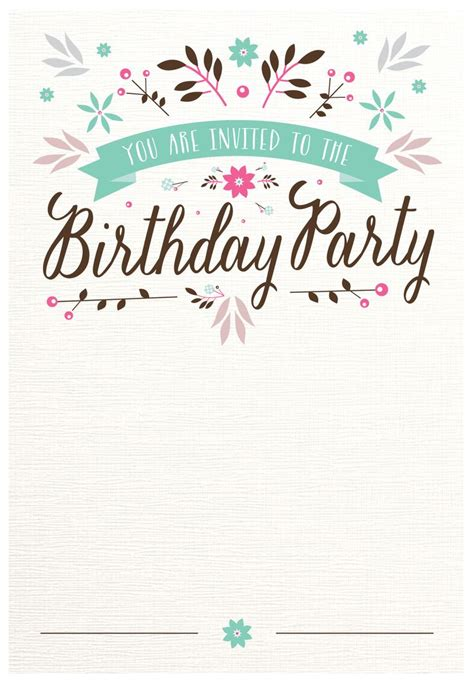 Free Birthday Templates by Best 25 Printable Birthday Invitations Ideas On
