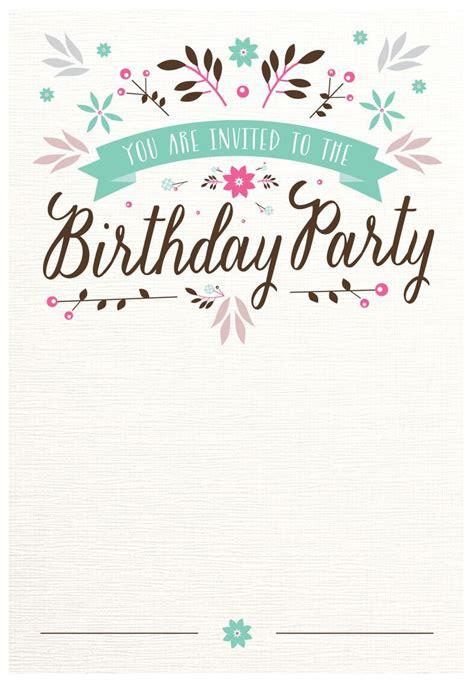 Best 25 Birthday Invitation Templates Ideas On Pinterest