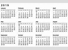 التقويم 2019 2019 2018 Calendar Printable with holidays