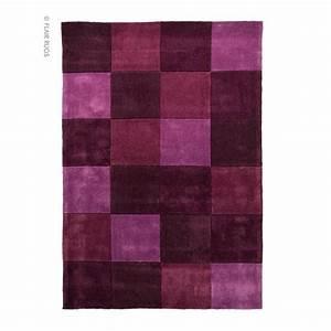 Tapis Rose Clair : tapis flair rugs squared aubergine with tapis rose clair ~ Teatrodelosmanantiales.com Idées de Décoration