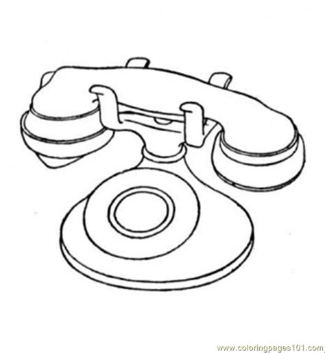 Kleurplaat Gsm by Telephone Coloring Page Free Telecom Coloring Pages