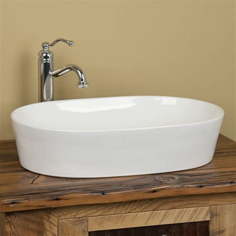 norris oval porcelain vessel sink bathroom