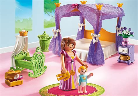 playmobil chambre princesse playmobil set 6851 princess bedroom klickypedia