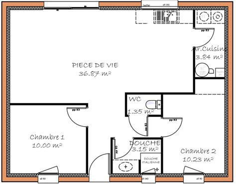 Plan Maison 2 Chambres - plan maison 80m2 2 chambres etage plan perigord maisons
