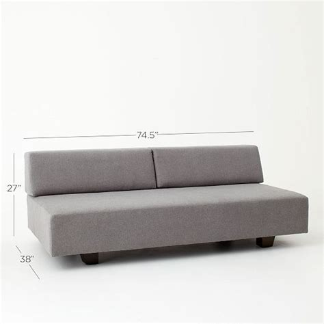 West Elm Tillary Sofa Comfortable by Tillary Sofa Marled Microfiber Gray Guest Room