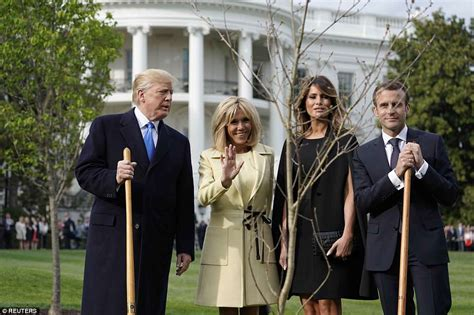 First lady Melania Trump wears Chanel for first Trump state dinner for France | Vive la France, says the first lady, resplendent in a Chantilly lace couture gown.