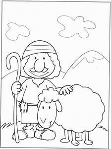 Good Shepherd Coloring Page - Coloring Home