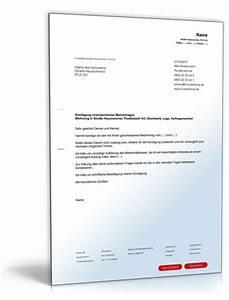 Muster Mietvertrag Kündigen : k ndigung mietvertrag durch mieter muster zum download ~ Watch28wear.com Haus und Dekorationen