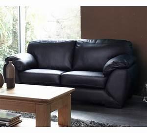 canape 2 places cuir noir 3143 With canapé 2 places cuir