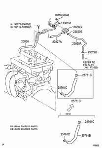 Toyota Corolla Vacuum  Valve  Locationengine  Bay  Stamped