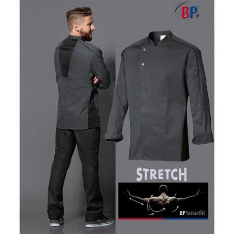 veste de cuisine veste de cuisine grise liberté de mouvement manches longues