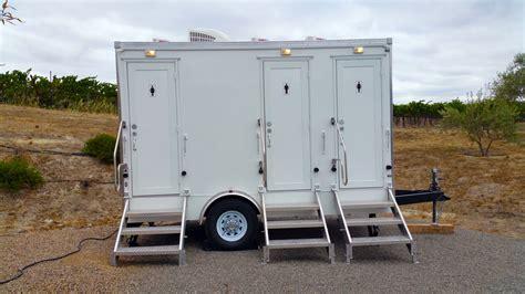 portable restroom trailer style