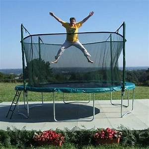 grand trampoline de jardin hiflyer avec filet universelle With photo jardin avec palmier 18 johans universe