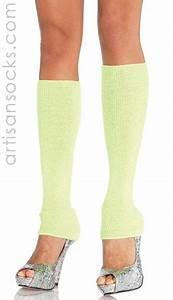 Ribbed Leg Warmers in Neon Colors