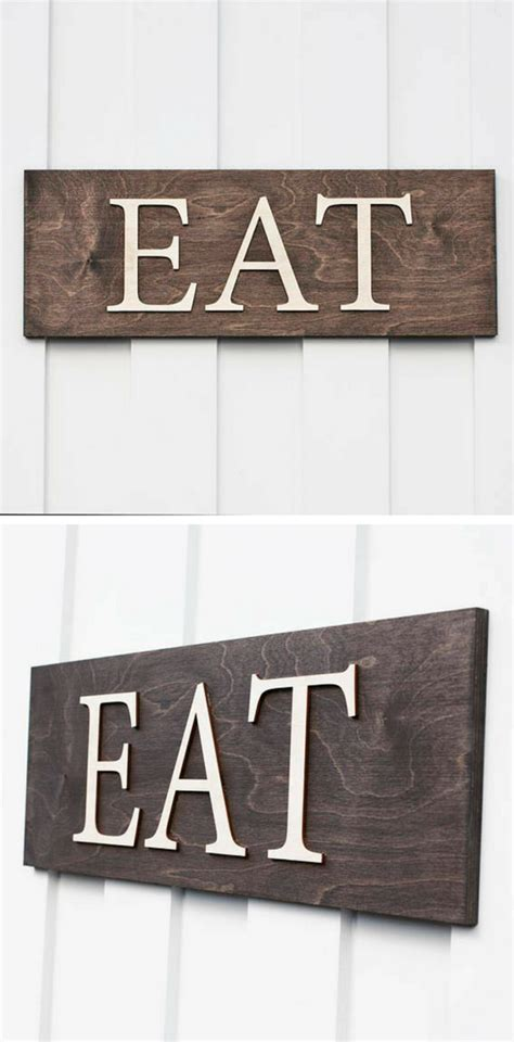 15+ Charming Kitchen Decor Eat Sign