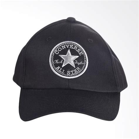 Harga Topi Merk Converse jual converse regular cap topi pria black conmc160401
