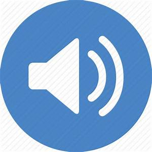 Blue, circle, music, sound, sounds, speaker, volume icon ...