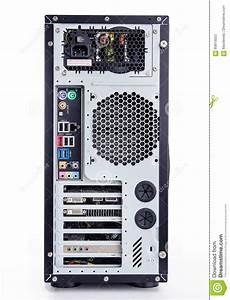 Full Tower Atx Black Case On White Background Stock Image