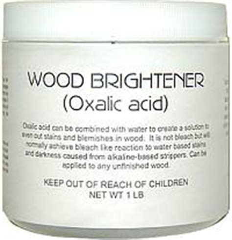deck brightener oxalic acid fresh enjoyment conditioning wood surfaces for