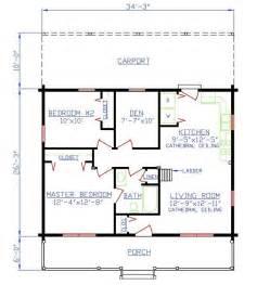 plan 154 00005 2 bedroom 1 bath log home plan