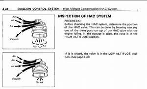 1987 Fj60 High Altitude Compensator  Hac  Routing