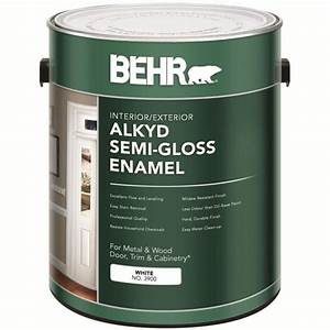 behr behr interior exterior alkyd semi gloss enamel paint With home depot white furniture paint