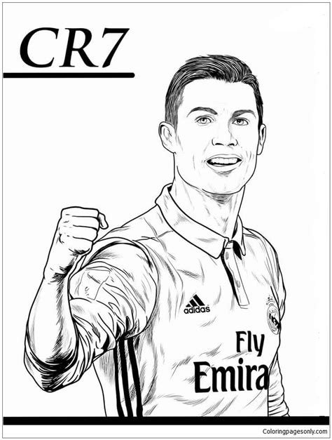 Kleurplaat Ronalda by Cristiano Ronaldo Image 5 Coloring Page Free Coloring