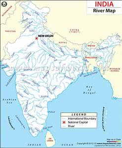 Pin Rivers Of India Map Blank on Pinterest