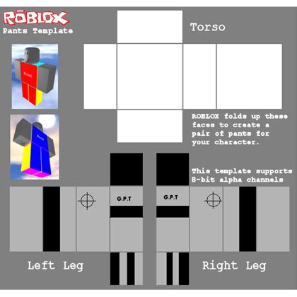 Transparent Template Pants by Blank Pants Template Roblox