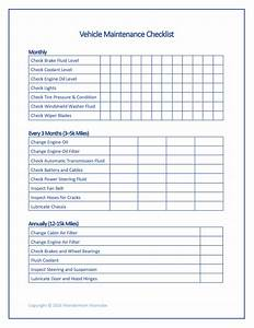 vehicle maintenance checklist music search engine at With van checklist template