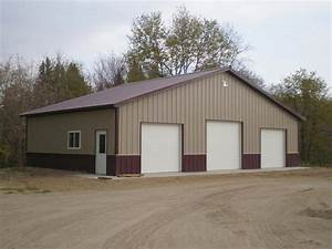 three stall garage awesome 3 bay pole barn 1 With 3 bay pole barn