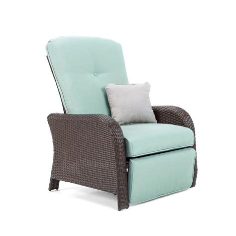 Spa Recliner Chair by La Z Boy Outdoor Sawyer Wicker Steel Recliner Chair With