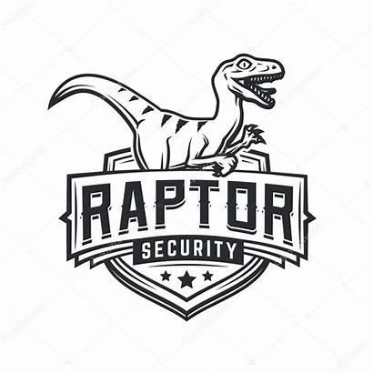 Raptor Template Mascotte Squad Team Airsoft Dino