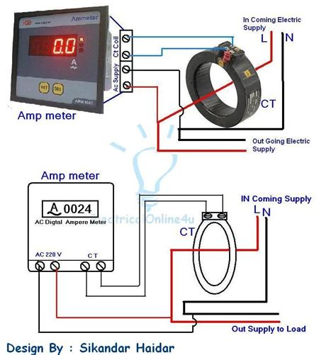 digital ammeter wiring  current transformer ct coil