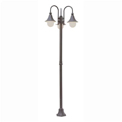 bel air lighting pier hook 3 light outdoor rust l post