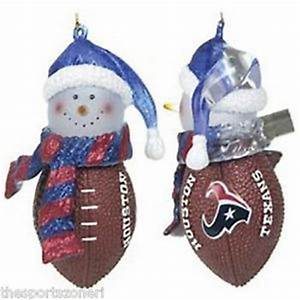 Houston Texans Snowman Football Ornament