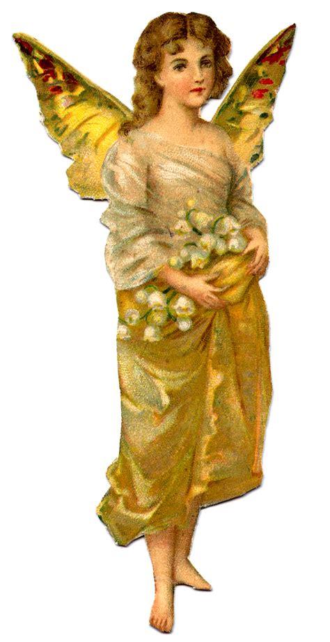 vintage image golden fairy girl lucketts spring market