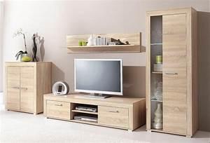 Meuble Tv Vitrine : ensemble salon vitrine haute buffet 2 portes meuble tv etag re murale meubles 3 suisses ~ Teatrodelosmanantiales.com Idées de Décoration