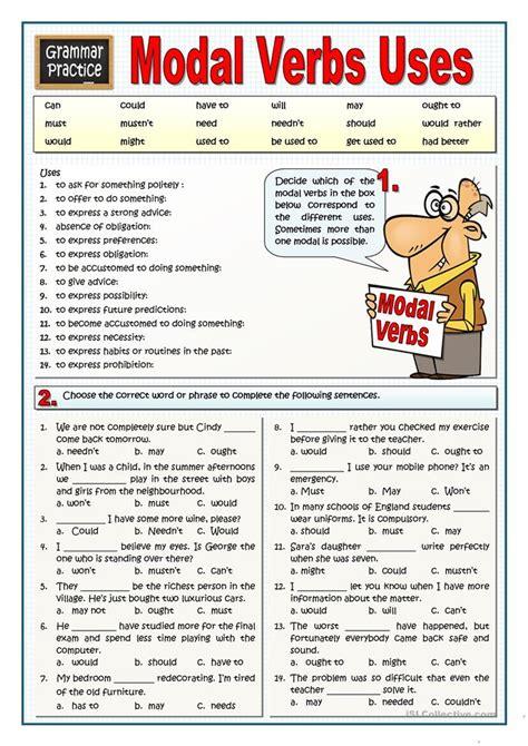 modal verbs uses worksheet free esl printable worksheets